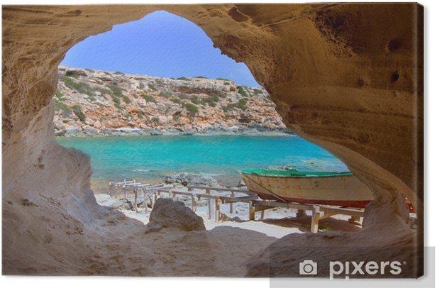 Formentera Cala en Baster in Balearic Islands of Spain Canvas Print - Themes