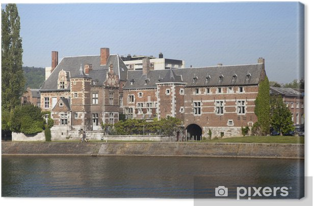 Former building of abby Val-Saint-Lambert in Huy Canvas Print - Europe