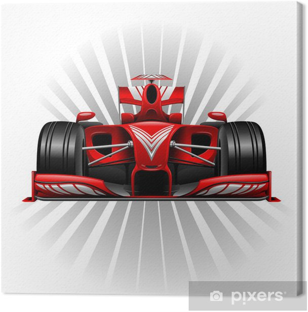Formula 1 Red Racing Car Canvas Print - Themes