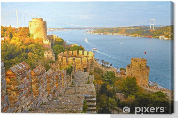 Fortress Rumelihisar. Istanbul, Turkey. HDR Canvas Print - Themes