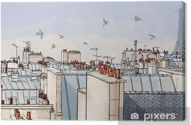 France - Paris roofs Canvas Print -