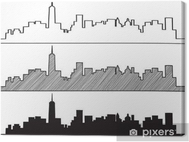 Free Hand Sketch Of New York City Skyline Vector Illustration Eps