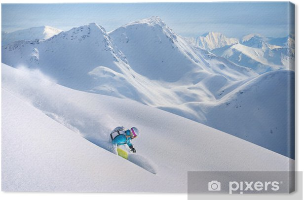 Freeride Skiing Canvas Print - Winter