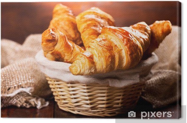 fresh croissants Canvas Print - Themes