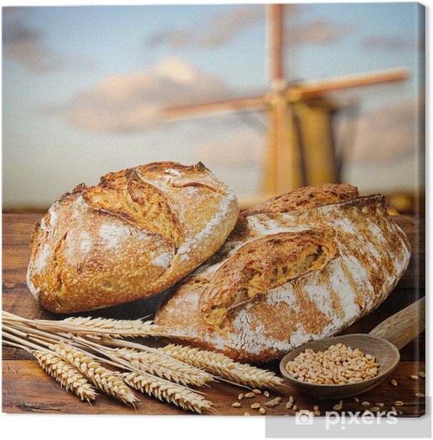Freshly baked traditional bread Canvas Print - Styles