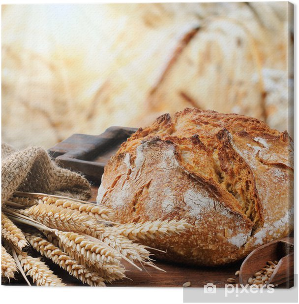 Freshly baked traditional bread Canvas Print - Themes