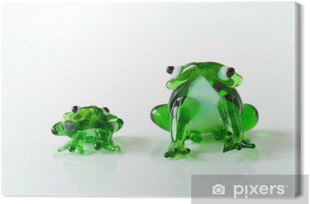 Frosch / Frösche / Glasfrösche / Glasskulpturen Canvas Print - Home and Garden