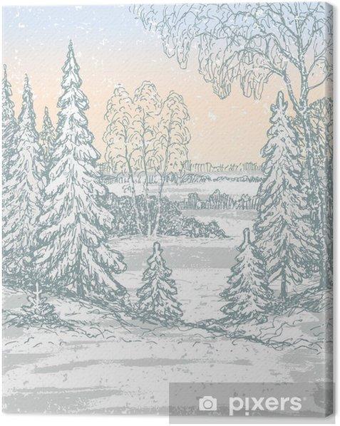 frosty morning Canvas Print - Seasons