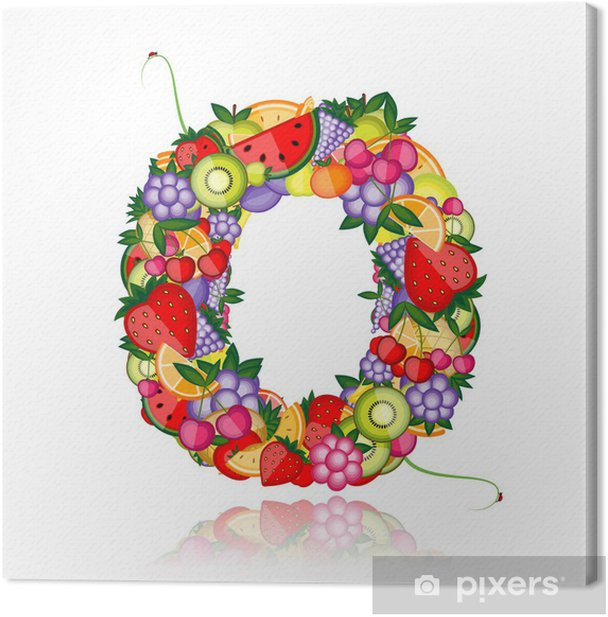 Fruit letter for your design. See others in my gallery Canvas Print - Education
