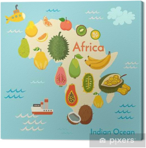 Fruit world map, Africa. Vector illustration, pre, baby, continents, on map of earth illustration, map of egypt illustration, map of japan illustration, map of zambia illustration, map of united states illustration, map of ancient greece illustration, world map illustration, map of italy illustration,