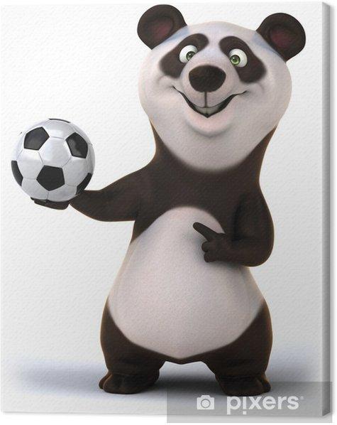 Fun panda Canvas Print - Signs and Symbols