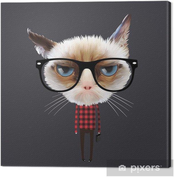 Funny cartoon cat, vector Eps10 illustration. Canvas Print - Destinations