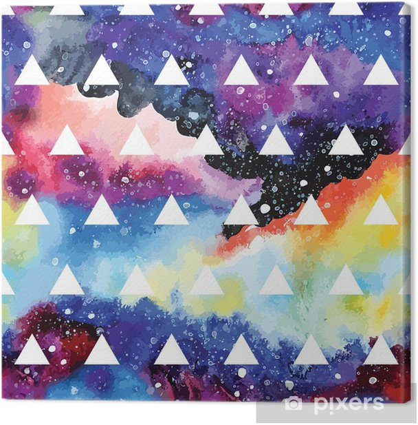 Galaxy seamless pattern. Canvas Print - Graphic Resources
