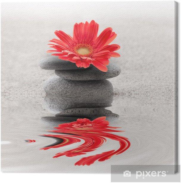 Galets et gerbera reflet zen Canvas Print - SPA & Wellness