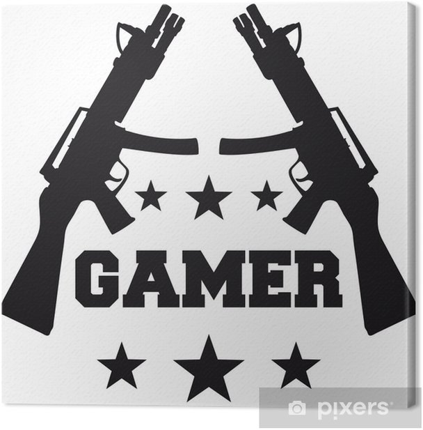 Gamer Canvas Print - Wall decals