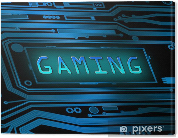 Gaming concept. Canvas Print -