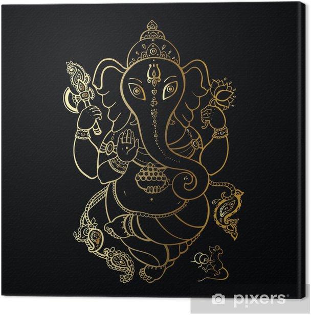 Ganesha Hand drawn illustration. Canvas Print - Styles