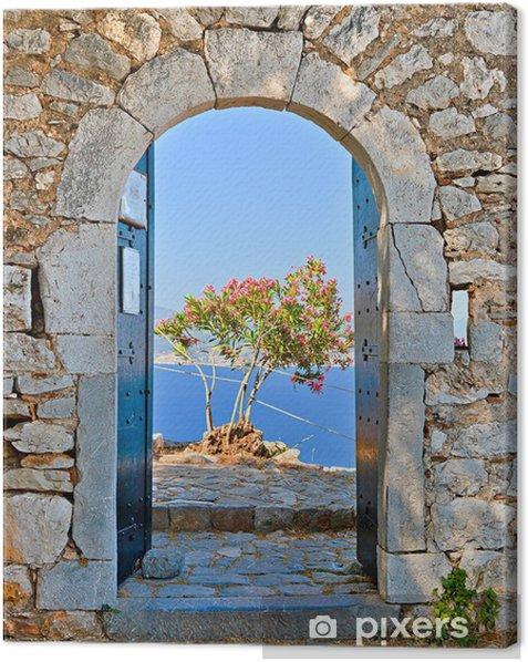 Gate in Palamidi fortress, Nafplio, Greece Canvas Print - Themes