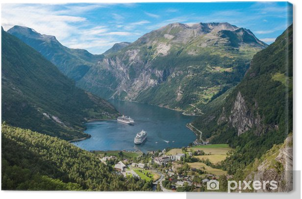 Geiranger fjord, Norway Canvas Print - Themes