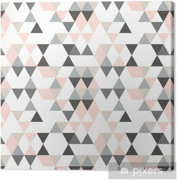Geometric abstract pattern with triangles in muted retro colors. Canvas Print - Graphic Resources