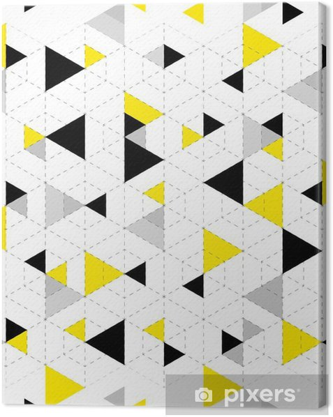 Geometric Pattern Background Canvas Print - Graphic Resources
