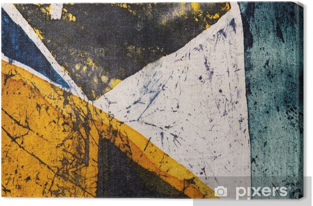 Geometry, hot batik, background texture, handmade on silk, abstract surrealism art Canvas Print - Graphic Resources