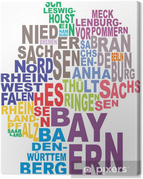 Germany map word cloud Canvas Print - Germany