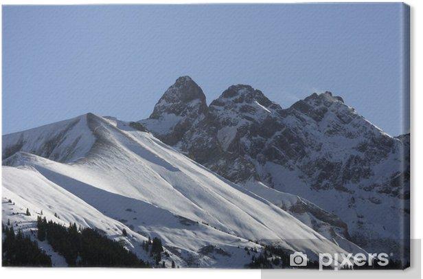 Gipfel in den Allgäuer Alpen - Mädlegabel Canvas Print - Europe