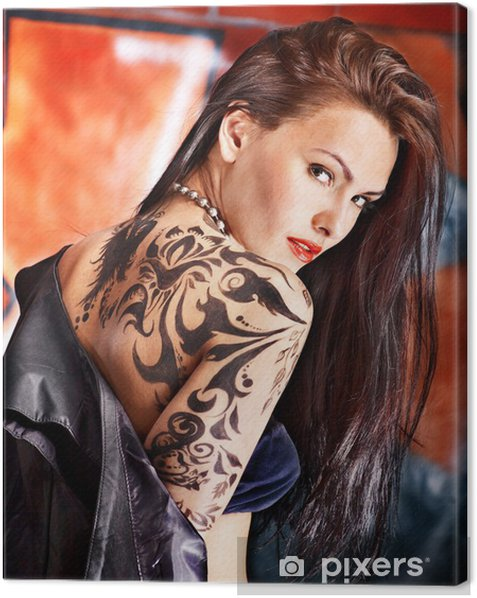 Girl With Body Art Canvas Print Pixers We Live To Change