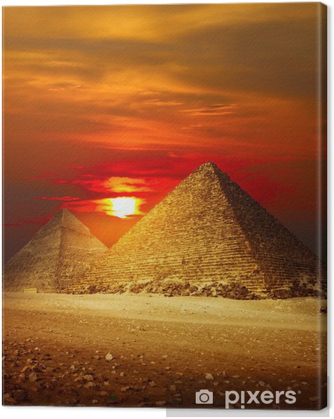 Giza valley Canvas Print - Desert