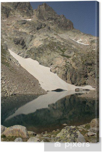 glacial lake in Posets-Maladeta natural park Canvas Print - Water