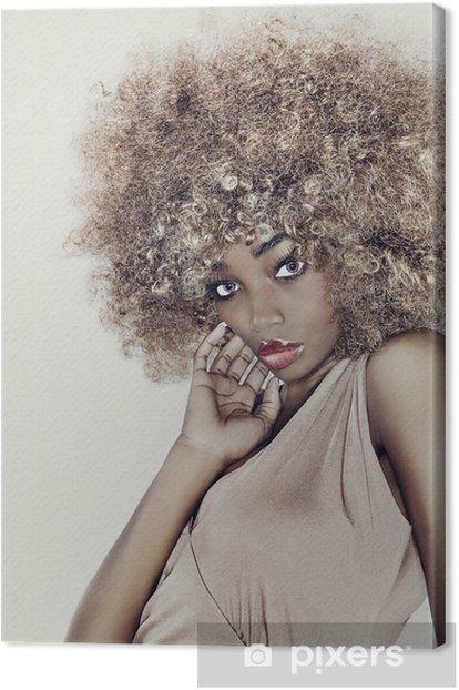 Glamour Hair Model Canvas Print - Fashion