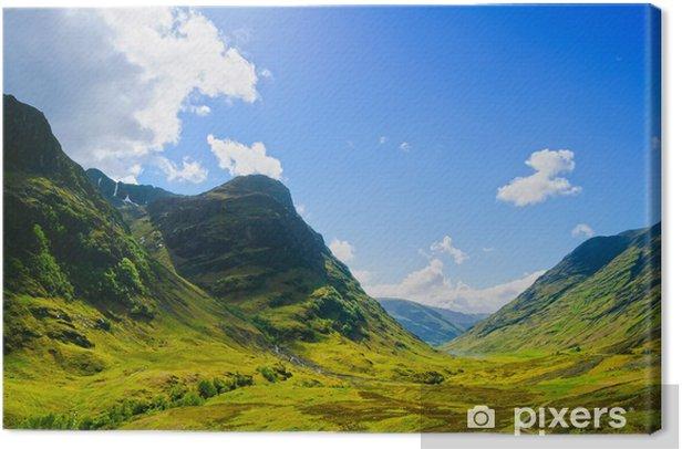 Glencoe mountain landscape in Lochaber, Scottish Higlands, Scotl Canvas Print - Themes