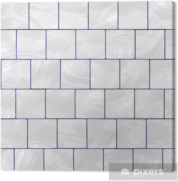glossy white tiles Canvas Print - iStaging