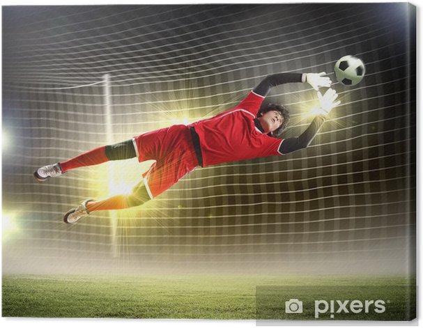 Goalkeeper catches the ball Canvas Print - Women