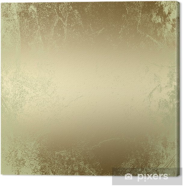 gold abstract grunge background pattern, vintage texture Canvas Print - Backgrounds