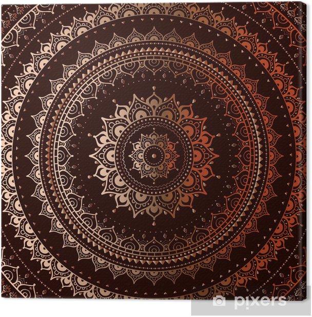 Gold mandala Canvas Print - Styles