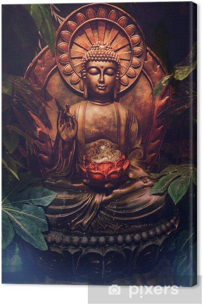 Golden buddha statue Canvas Print - Styles
