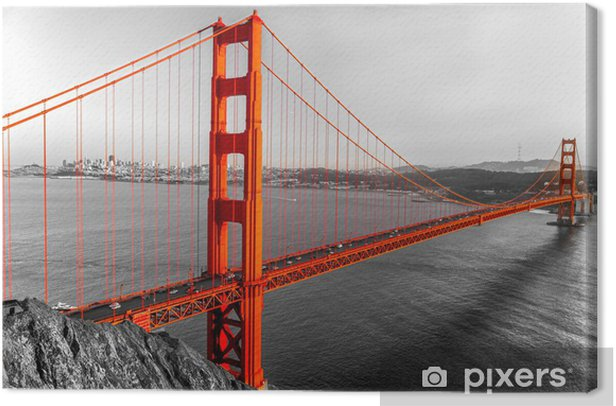Golden Gate, San Francisco, California, USA. Canvas Print - Styles