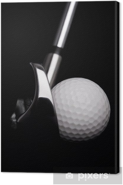 golf club with ball on white background Canvas Print - Golf
