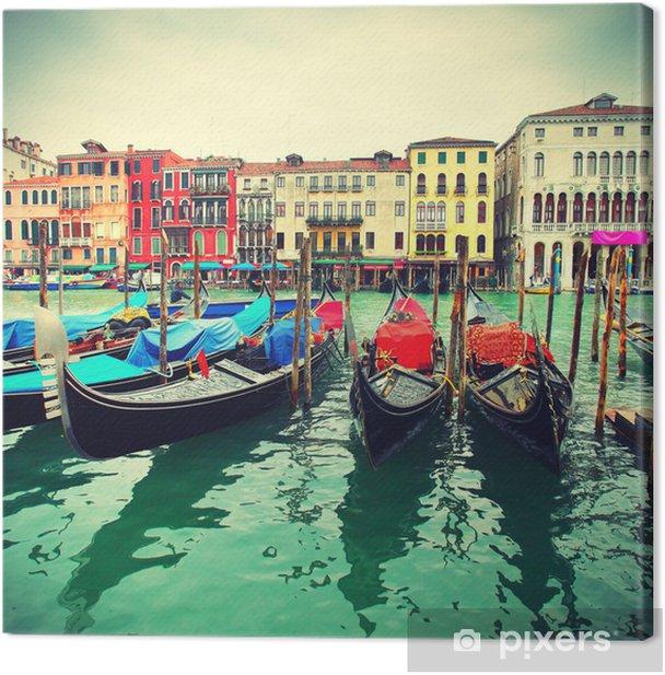 Gondolas on Grand Canal Canvas Print - Themes