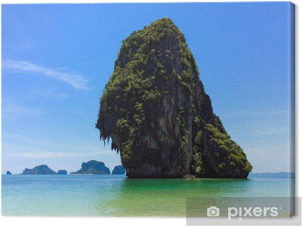 Gorgeous Tropical Island in Thailand Canvas Print - Islands