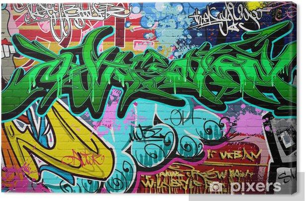 Graffiti Art Vector Background. Urban wall Canvas Print - Themes