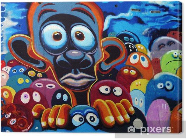 graffiti, barcelone Canvas Print -