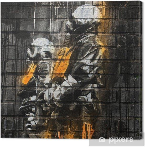 Graffiti Berlin Canvas Print - Themes