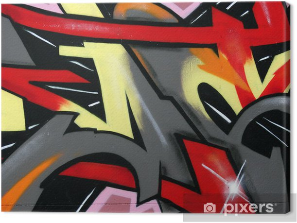 graffiti on wall Canvas Print - Themes