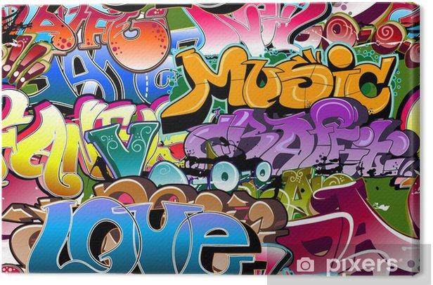 Graffiti seamless background. Hip-hop art Canvas Print -