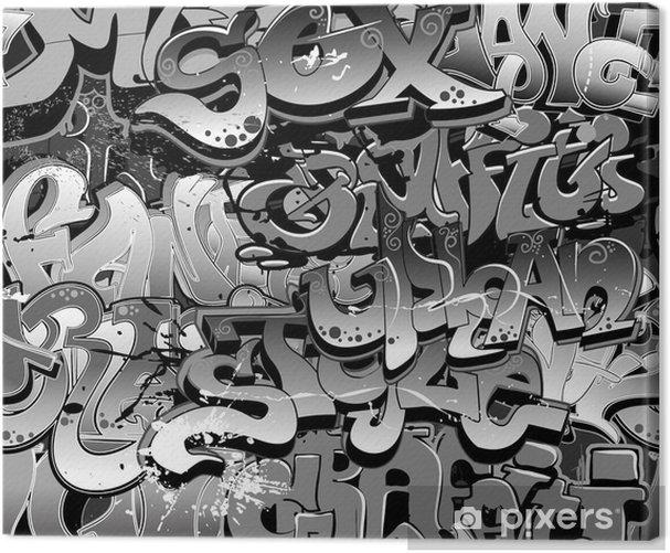 Graffiti seamless background. Urban art texture Canvas Print - Themes