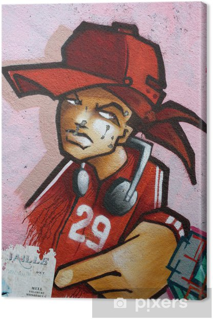 graffiti,tag,rap,art, peinture, rubain, urbaine, culture, Canvas Print - Themes