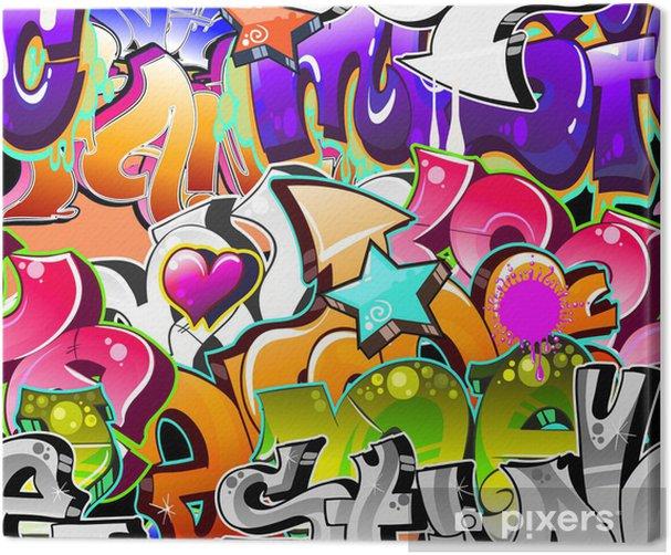 Graffiti Urban Art Background. Seamless design Canvas Print - Themes